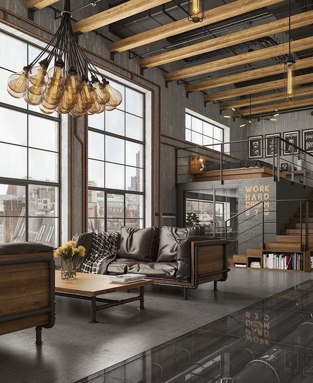 Best Tips On Industrial Living Rooms Insplosion Industrial Style Living Room Industrial Home Design Industrial Interior Design #warm #industrial #living #room
