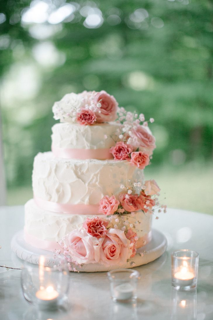 A Shabby Chic Wedding At Mountain Magnolia Inn Suites And Restaurant In Hot Springs North Car Carnation Wedding Wedding Cake Roses Wedding Cake Fresh Flowers