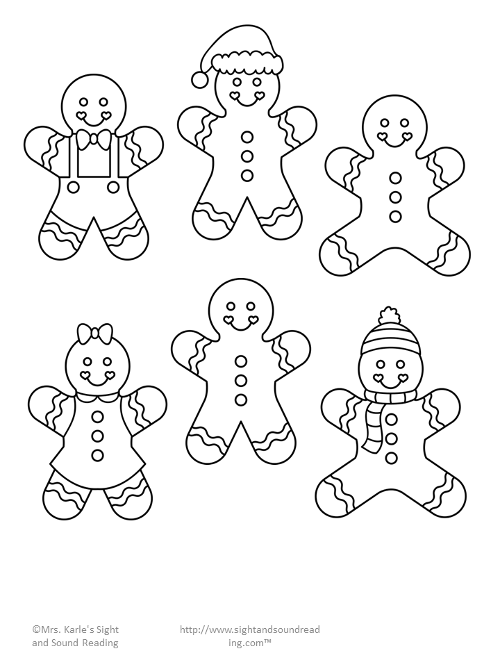 Gingerbread Man Cutout Template and Lesson Plan! Sweet