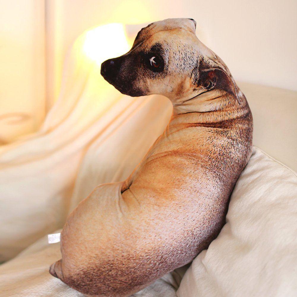 3d dog shaped throw pillow epic shirt