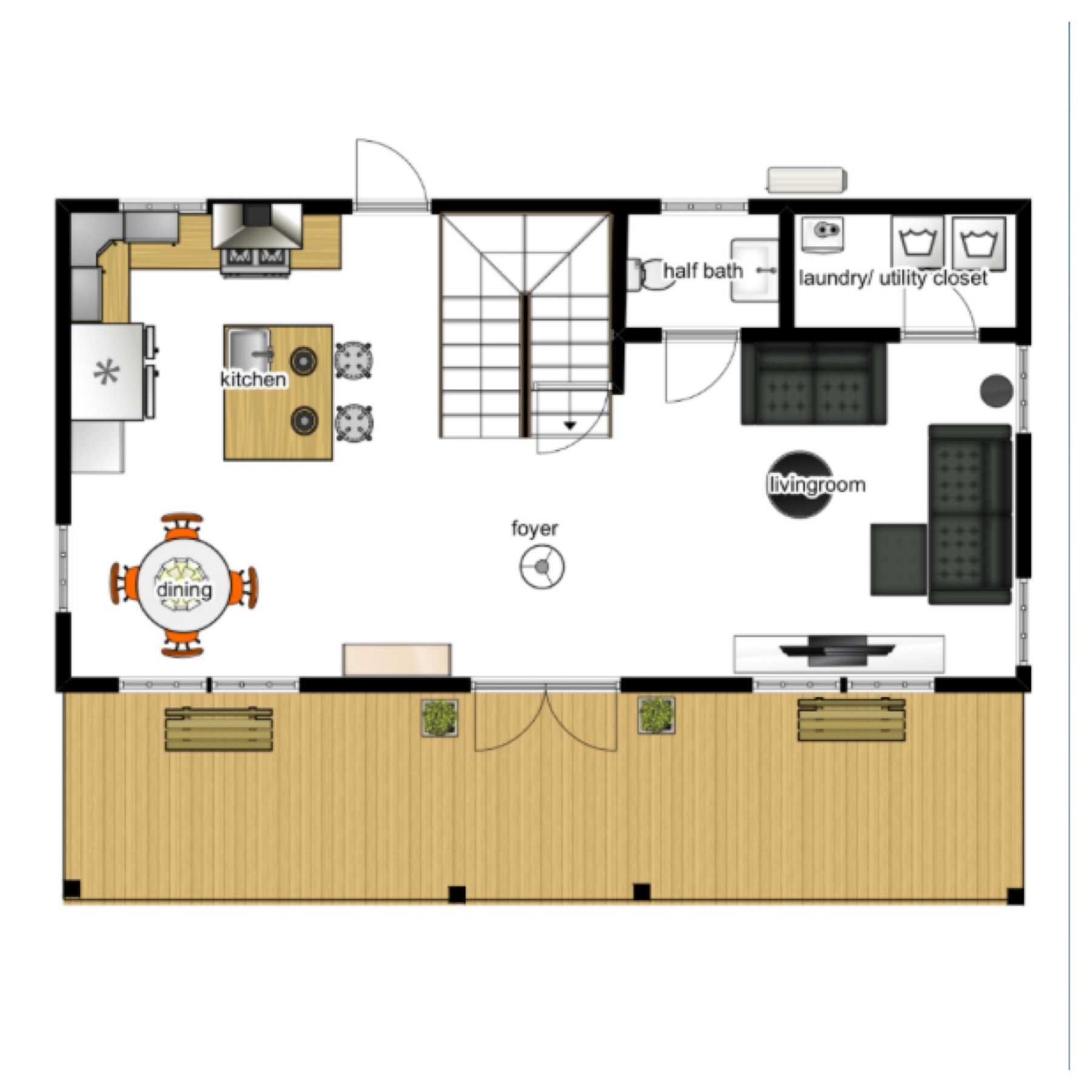 18x36 Main Floor Plan Idea With Stair Change Floor Plans Shed To Tiny House Shed House Plans