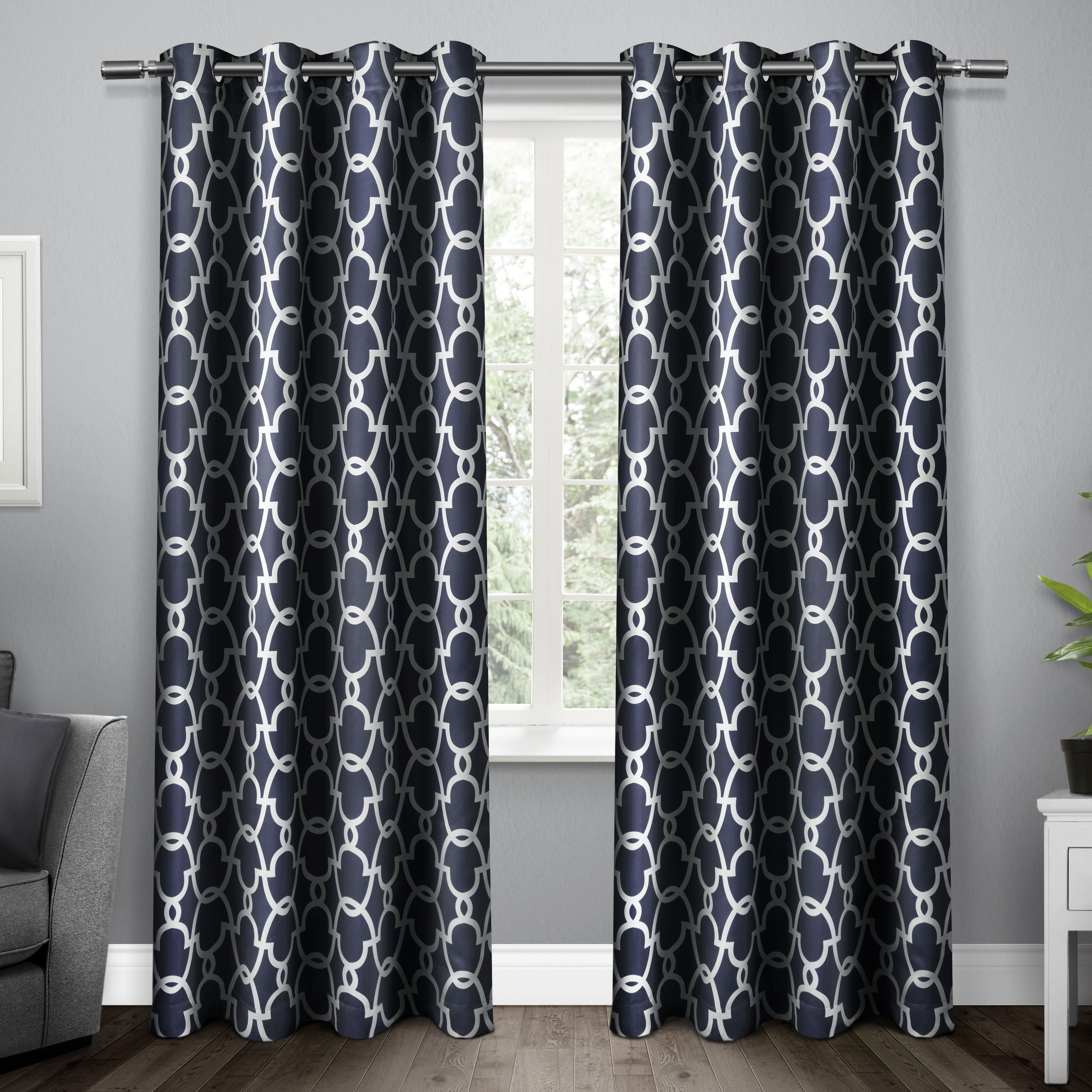 Ati home gates blackout thermal curtain panel pair with grommet top