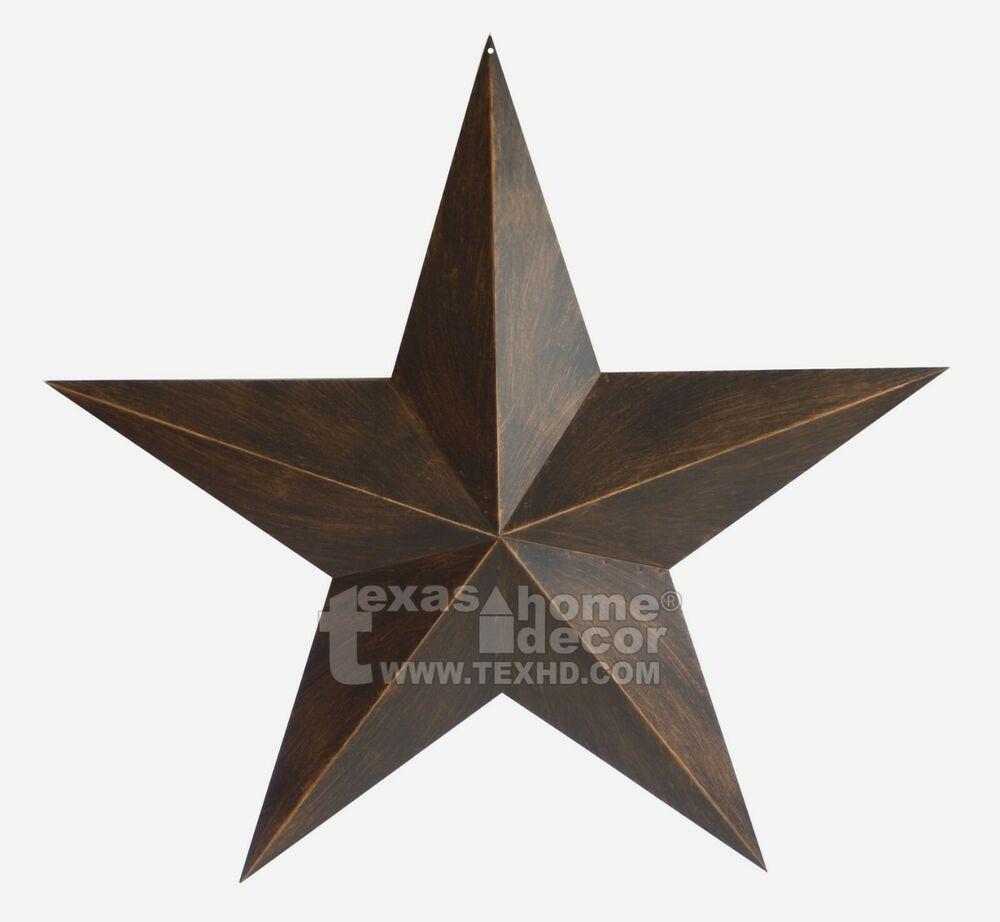 "12/"" Rustic Metal Barn Star Brushed Copper Texas Tin Wall Decor Wall Mounted"