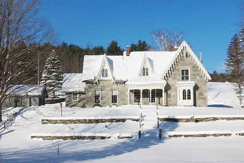 GOTHIC REVIVAL STONE HOUSE This Unique Home With 2 Working Stone Fireplaces Located