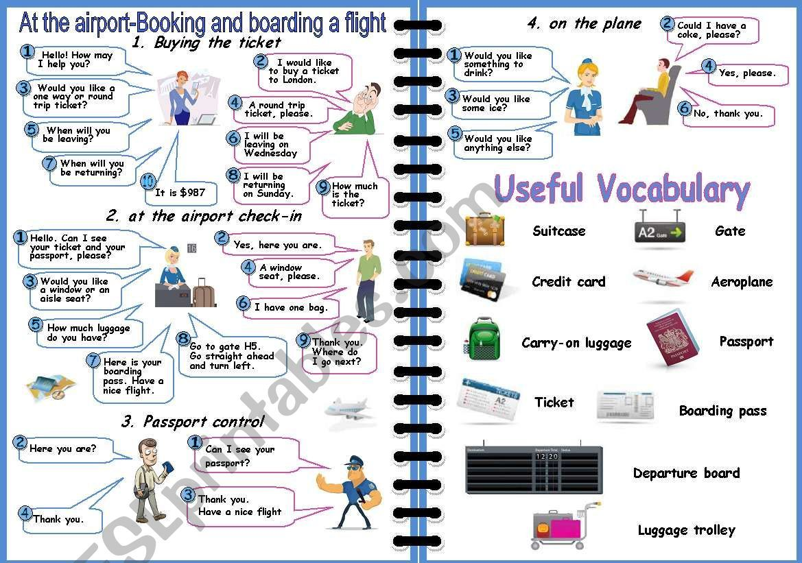Your Students Can Use This Worksheet To Practice Booking A