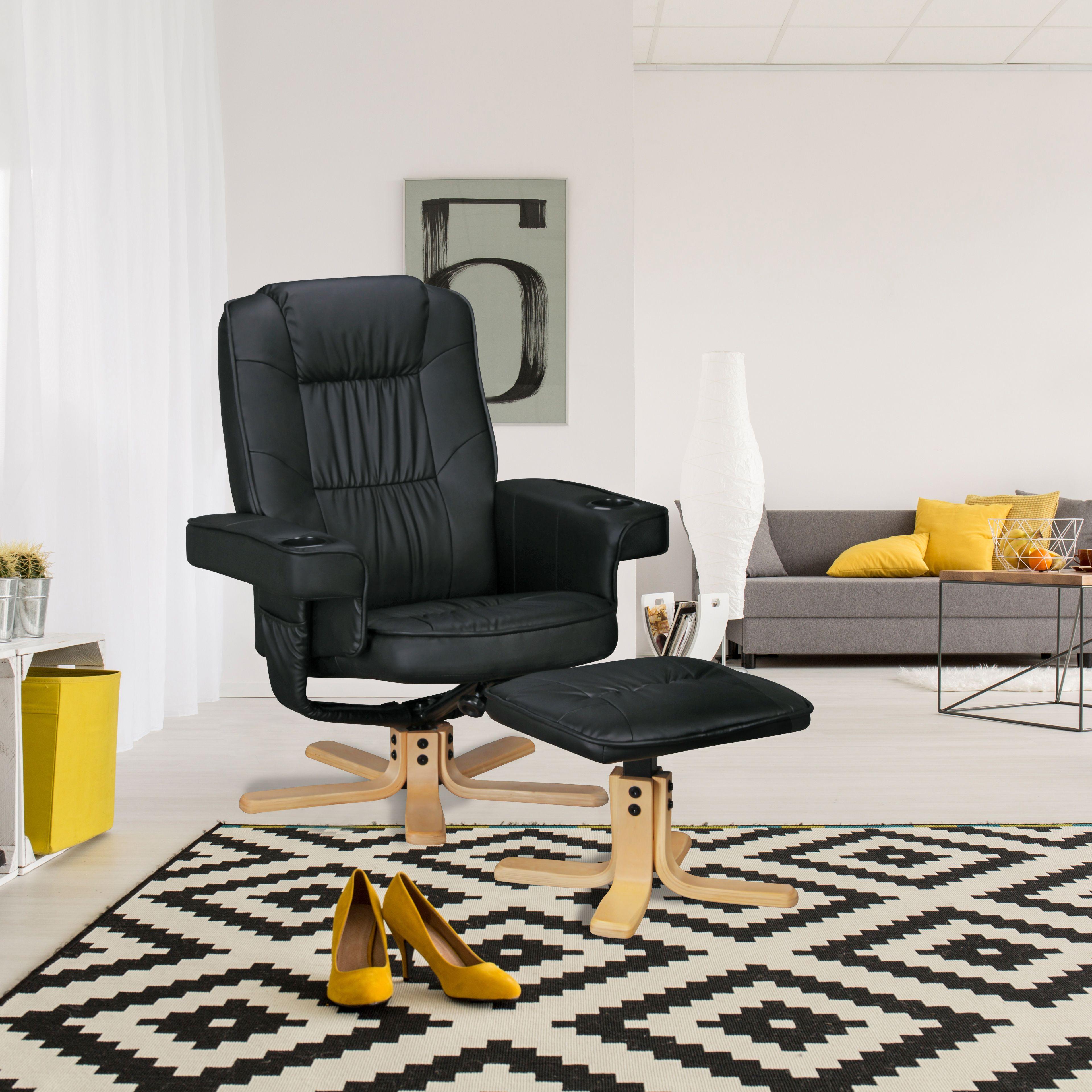 Moderner TV Sessel mit 2 Getränkehaltern in den Armlehnen. Ideal ...