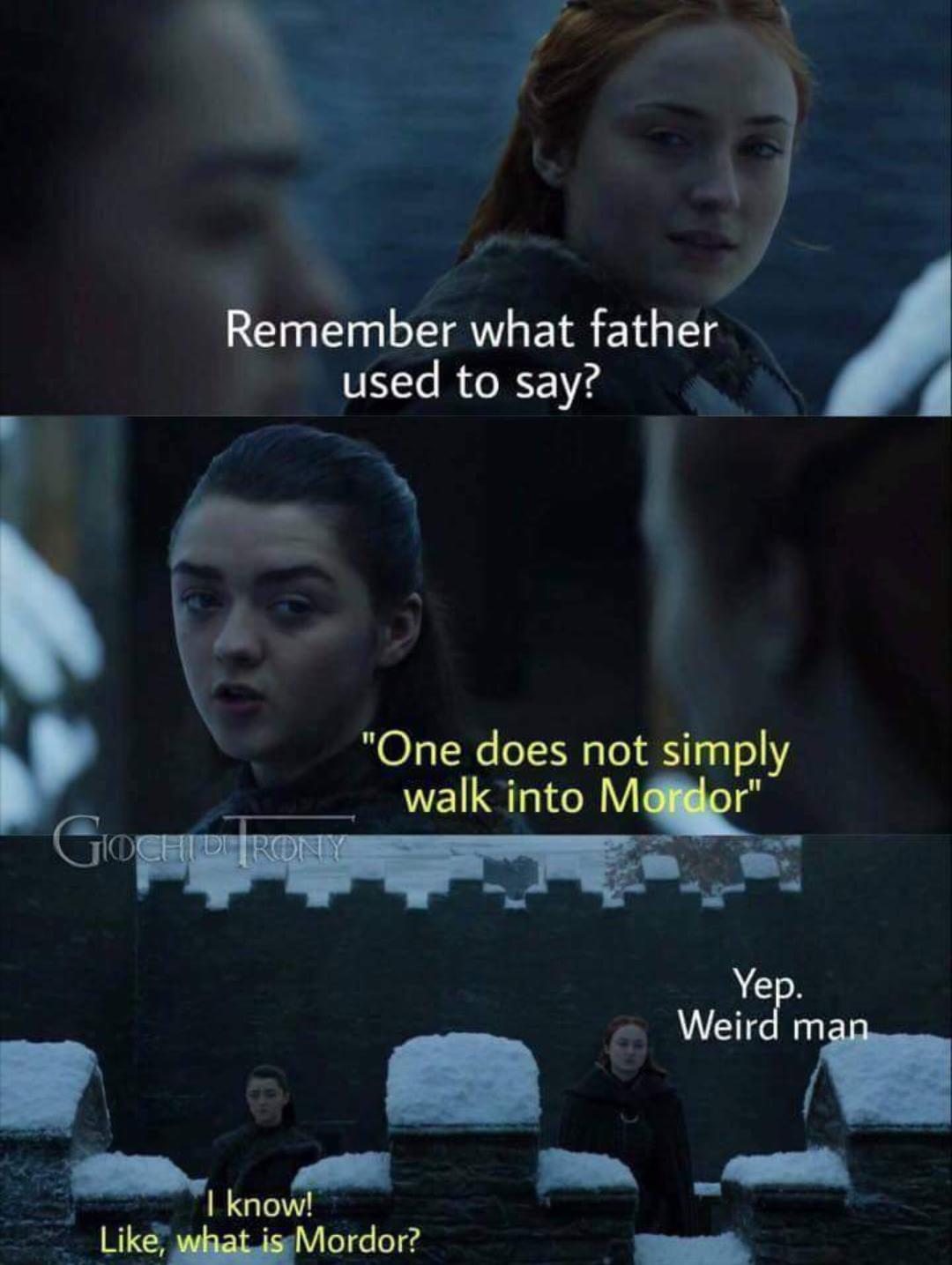 Sansa Stark Memes : sansa, stark, memes, Thrones, Season, Funny, Humour, Meme,, LOTR,, Crossover,, Sansa, Stark,, Maisie, Williams,, Funny,, Games