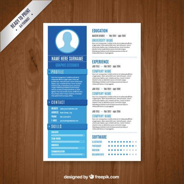 modelo de currículo designer gráfico Pinterest Graphic designer