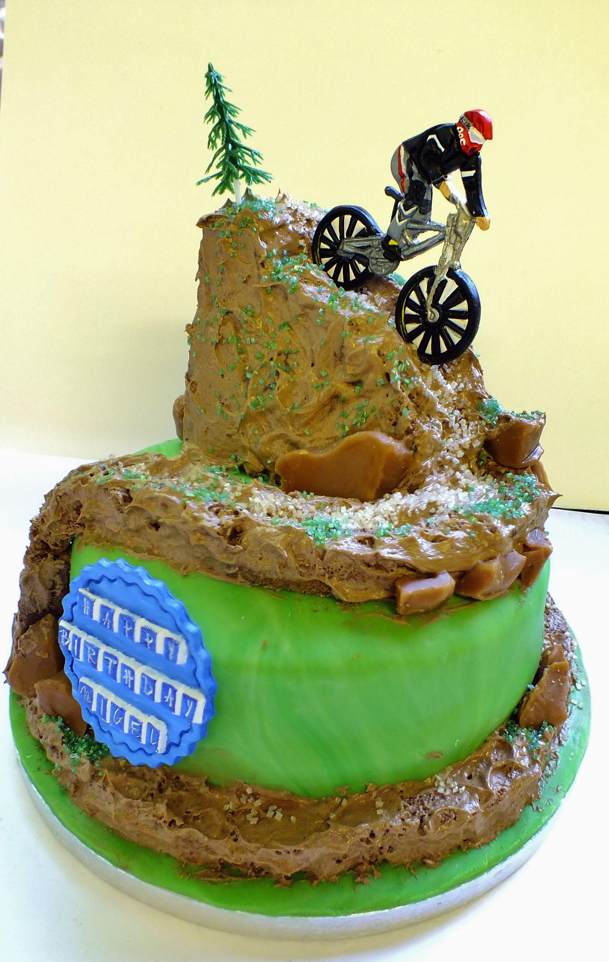 Mountain Bike 21st Birthday Cake
