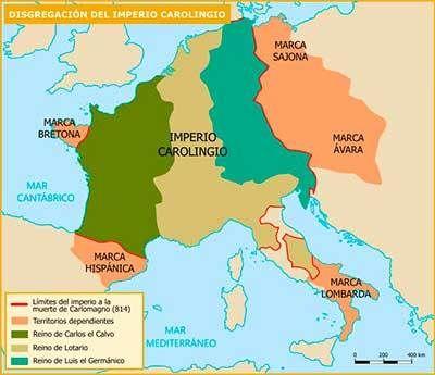 Mapa Division Imperio Carolingio Imperio Profesores De