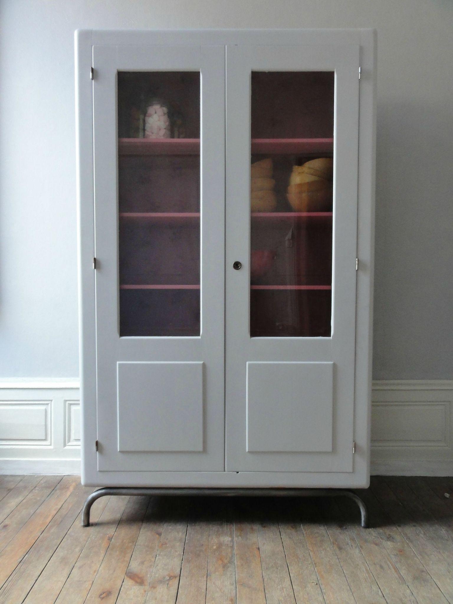 Armoire Ecole Vitree Annees 60 Vintage Emoi Renovation Meuble Relooking Meuble Et Mobilier De Salon