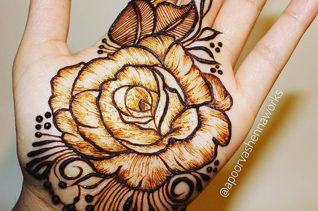 Impressive Realistic Henna Rose By Apoorvashennaworks The Shading