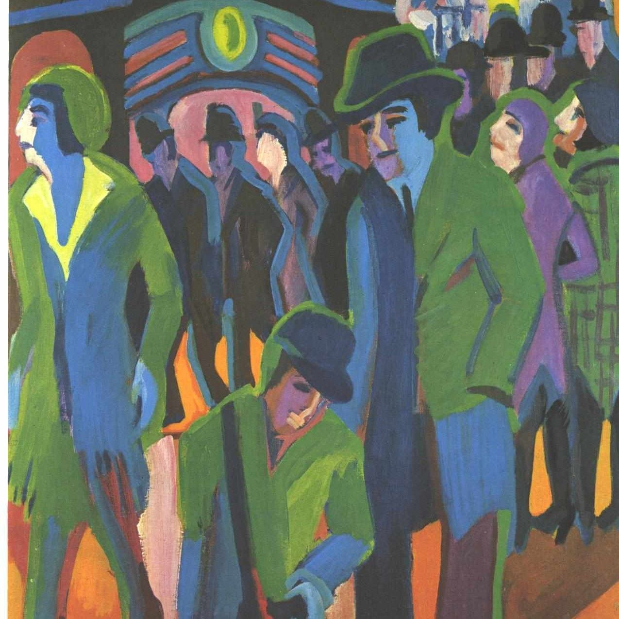Ernst Ludwig Kirchner Expressionism | Ernst Ludwig Kirchner - Street scene with green lady