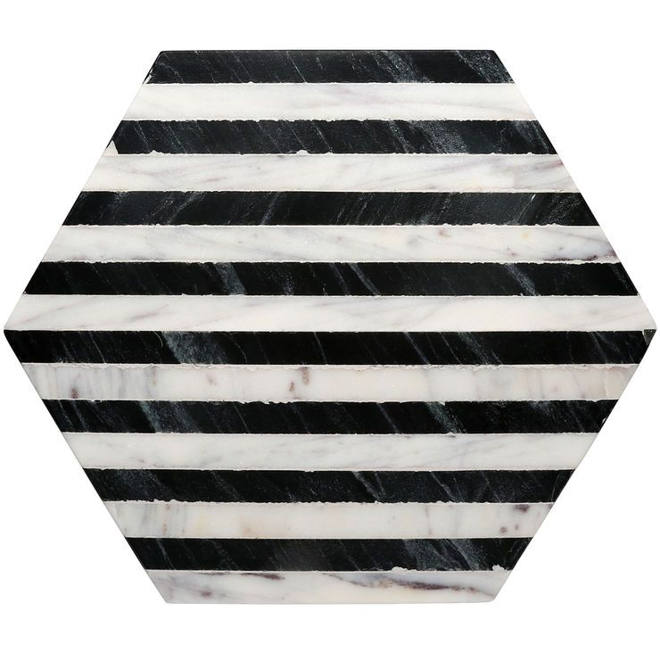 Hexagon Black White Stripe Marble Trivet Hexagon Coasters Black And White Marble Leather Coaster Set