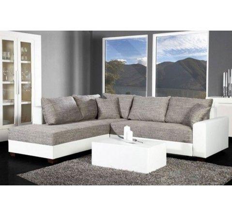 Canape D Angle Convertible Blanc Gris Vigo Home Pinterest
