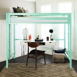 twin metal loft bed - mint, green | lofts, twins and metals