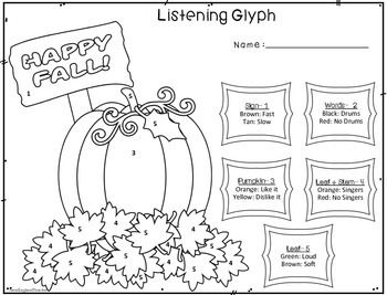 fall and halloween listening glyph set - Halloween Glyphs