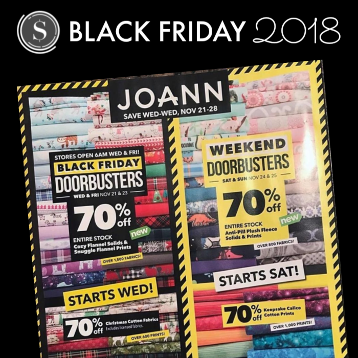 Joann Fabric Stores Black Friday Ad 2018 Store Hours Black Friday Ads Black Friday Joann