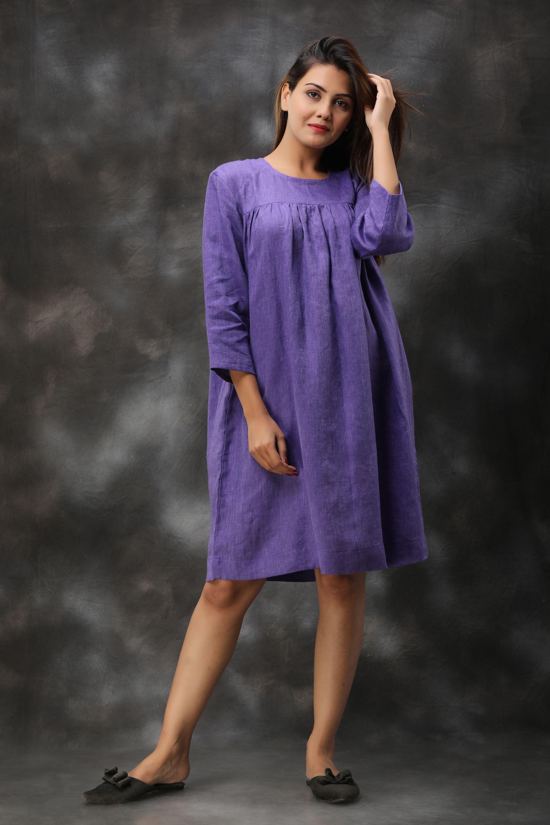 Loose Linen Dress #linentunic