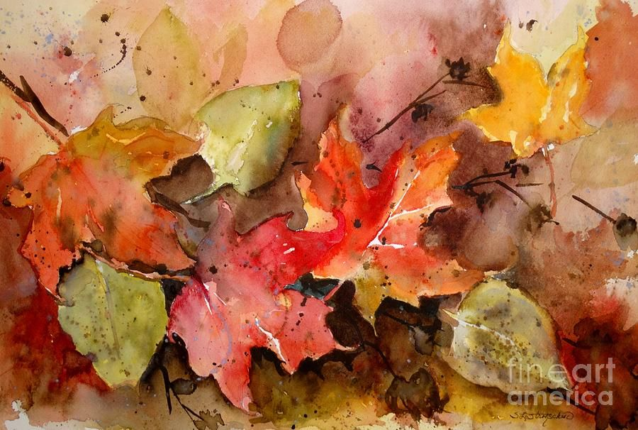 Falling Painting by Sandra Strohschein
