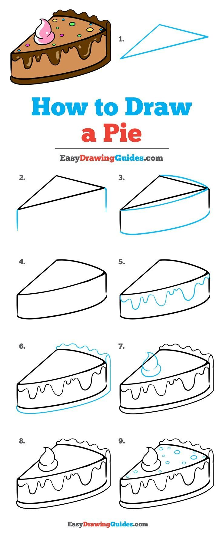 How to Draw a Tasty Pie - Really Easy Drawing Tutorial