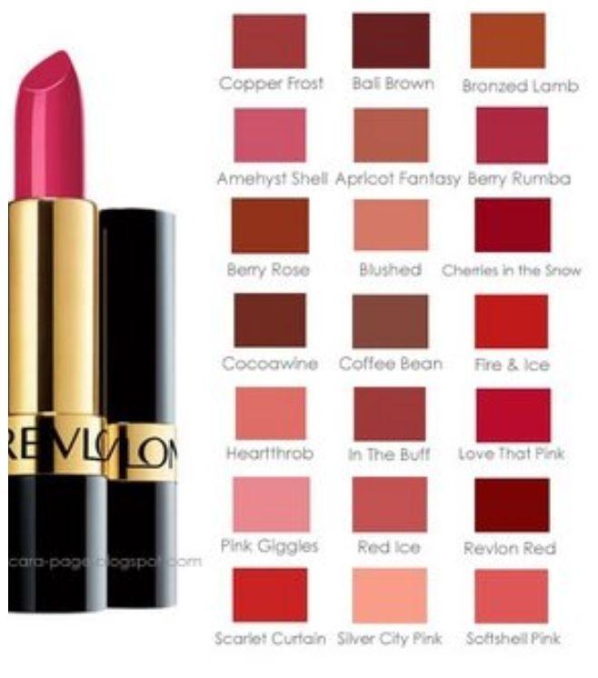 Revlon lipstick chart makeup love pinterest revlon lipstick