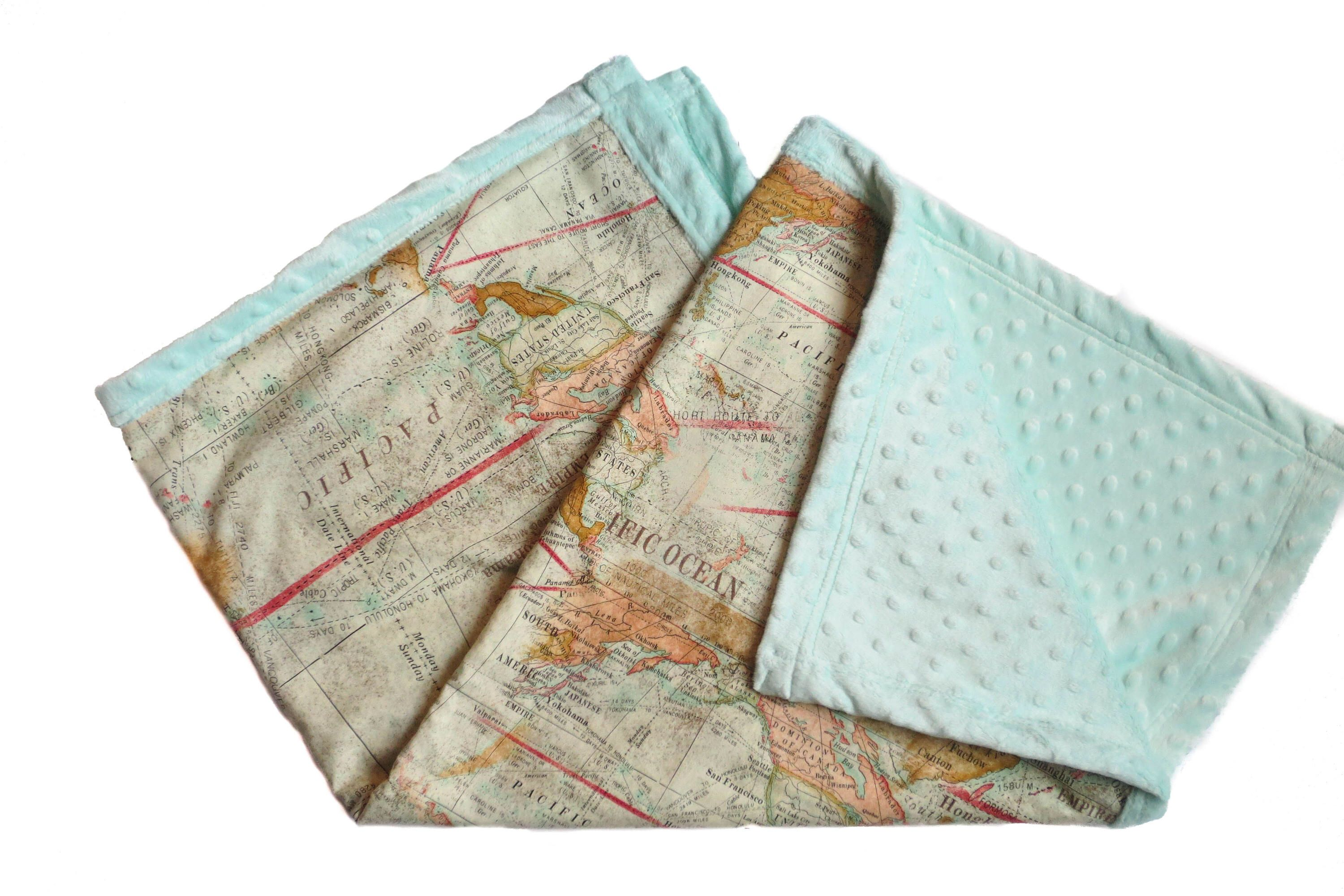 Map minky baby blanket gender neutral baby world map blanket map minky baby blanket gender neutral baby world map blanket travel theme blanket expedition blanket boy blanket girl blanket unisex gumiabroncs Gallery
