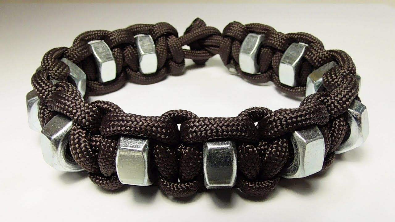 How You Can Make A Simple Hex Nut Paracord Survival Bracelet