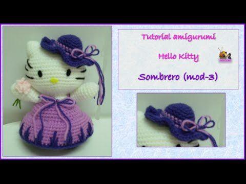 Tutorial Amigurumi Sombrero Broche : Tutorial amigurumi hello kitty montaje mod youtube