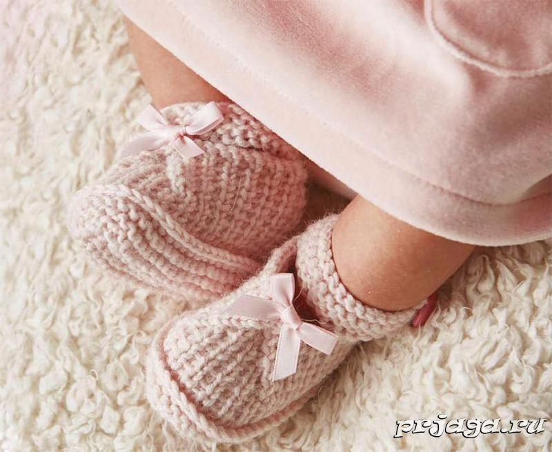 143Вязанные носочки для детей спицами