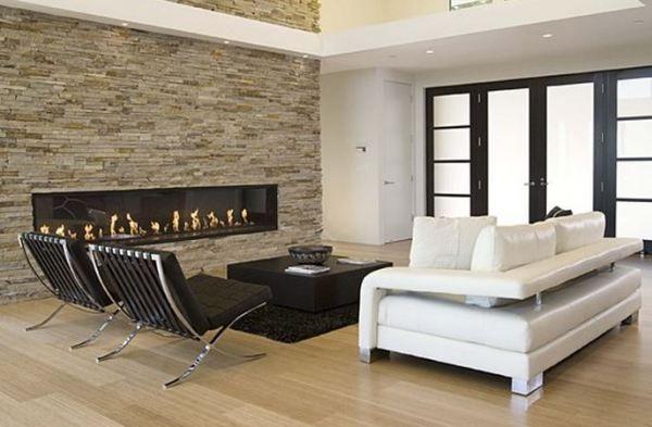 dcoration salon moderne noir et blanc