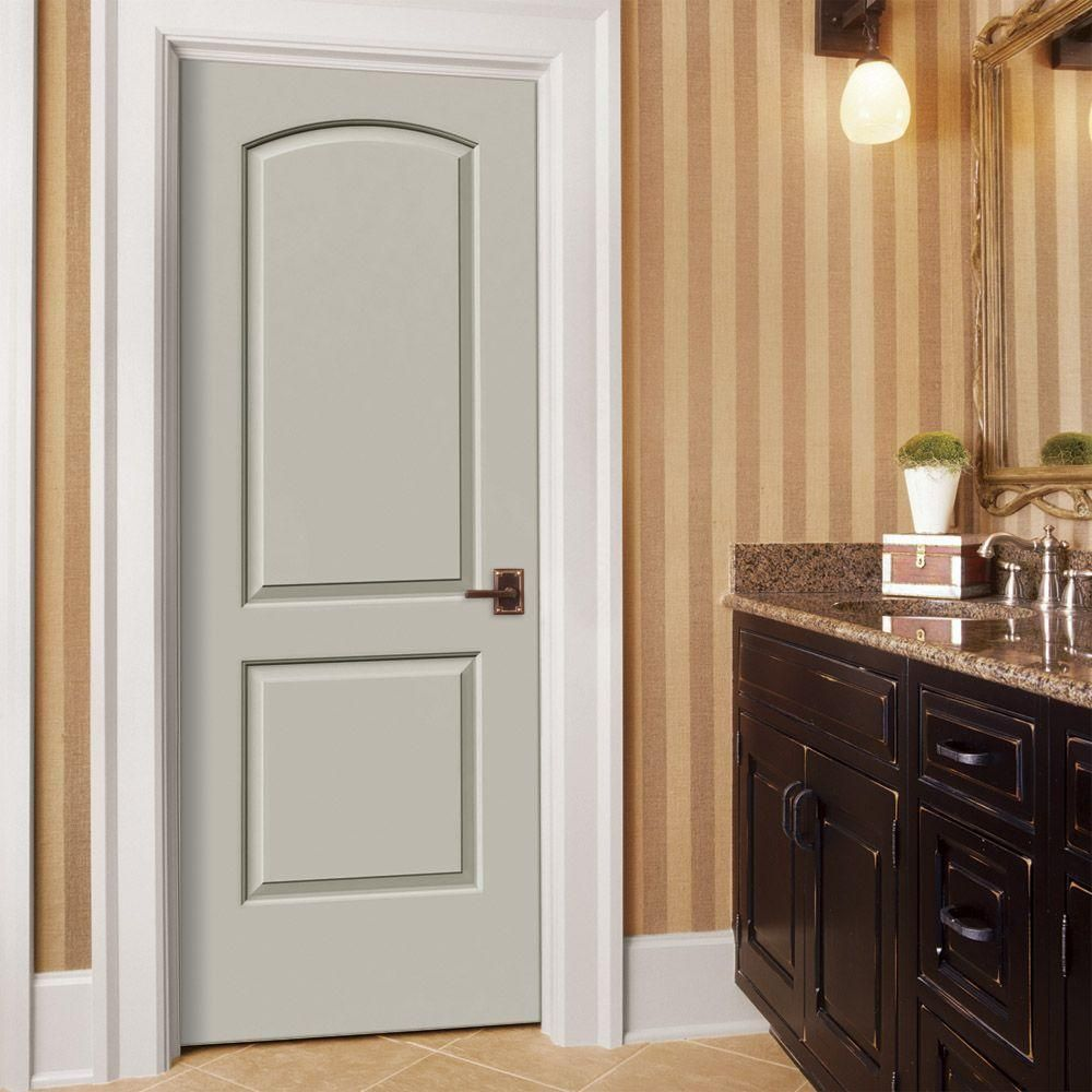 Continental Primed Left Hand Smooth Solid Core Molded Composite Mdf Single Prehung Interior Door