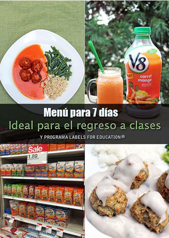 Mi Diario de Cocina | Menú para 7 días, ideal para el regreso a clases #1Millon4Edu #CollectiveBias #Ad| http://www.midiariodecocina.com/