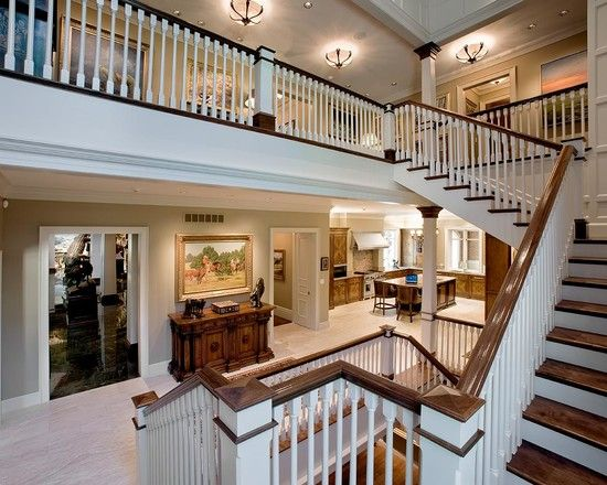 Traditional Home Interiors beautiful traditional staircase design using white balustrade