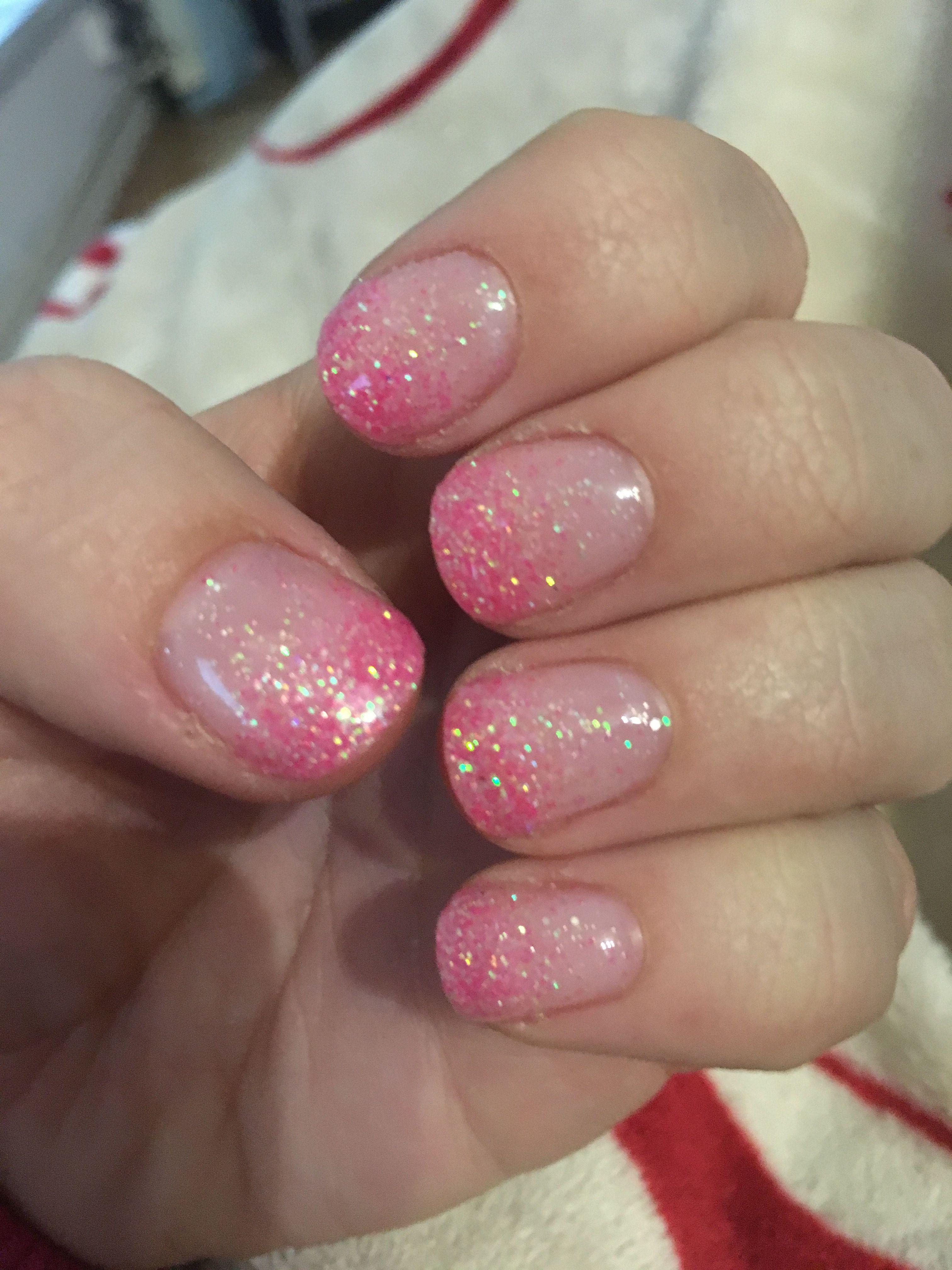 Pink Glitter Gradient Ombre Sparkle Natural Nail My Nails Natural Nails Nails