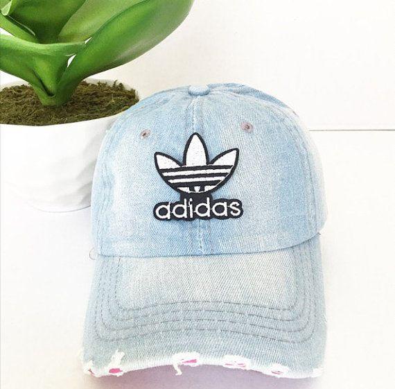 cef087dc88e Vintage Adidas Denim Baseball Cap Baseball Hat by TripleOGco