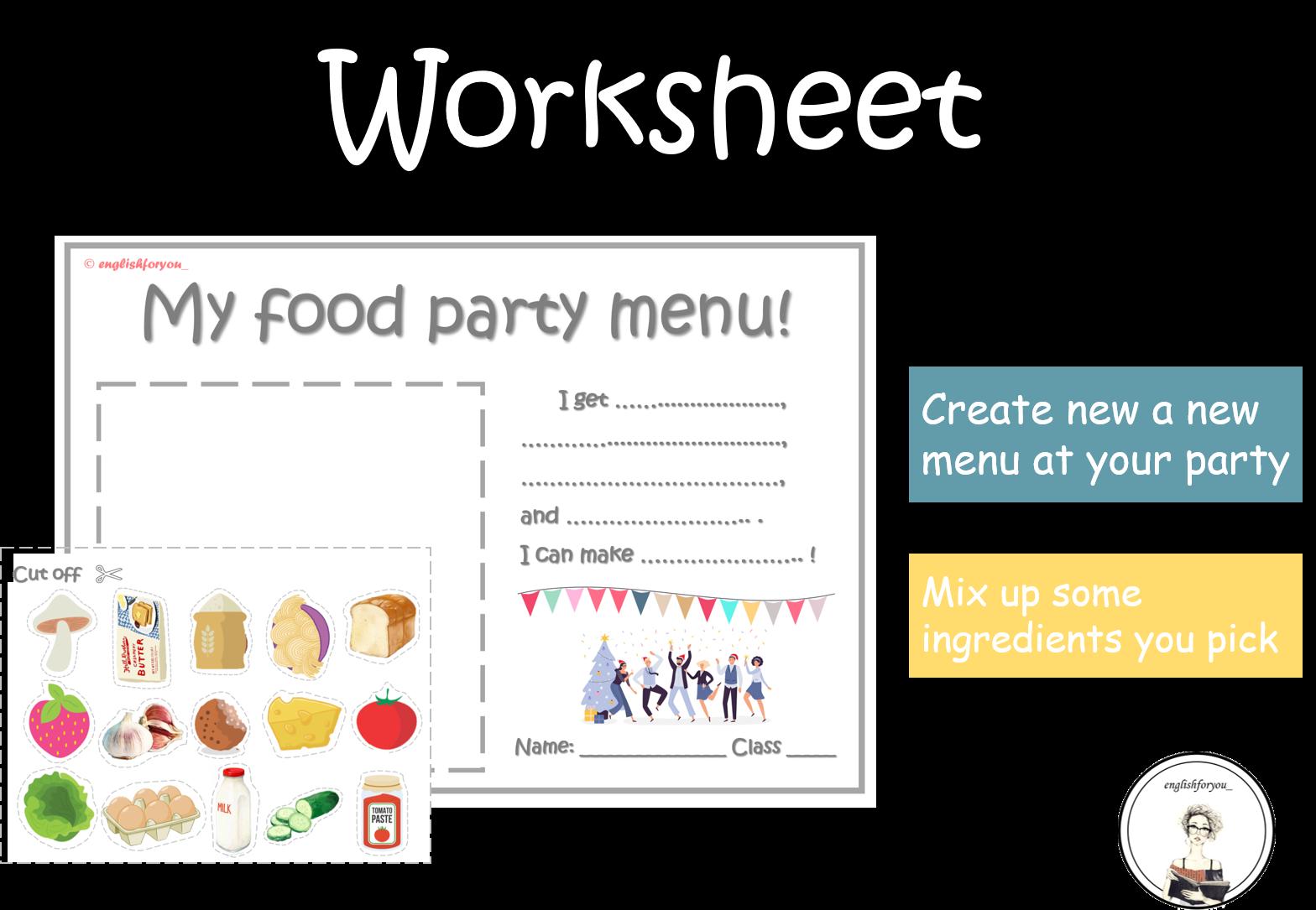 Food Party Party Menu Party New Menu [ 1085 x 1568 Pixel ]