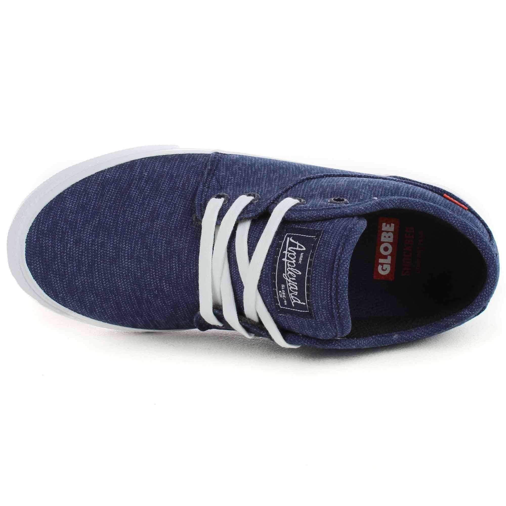 Globe Mahalo Kids Shoes In Moonlight Blue Boys Skate Shoes Kid