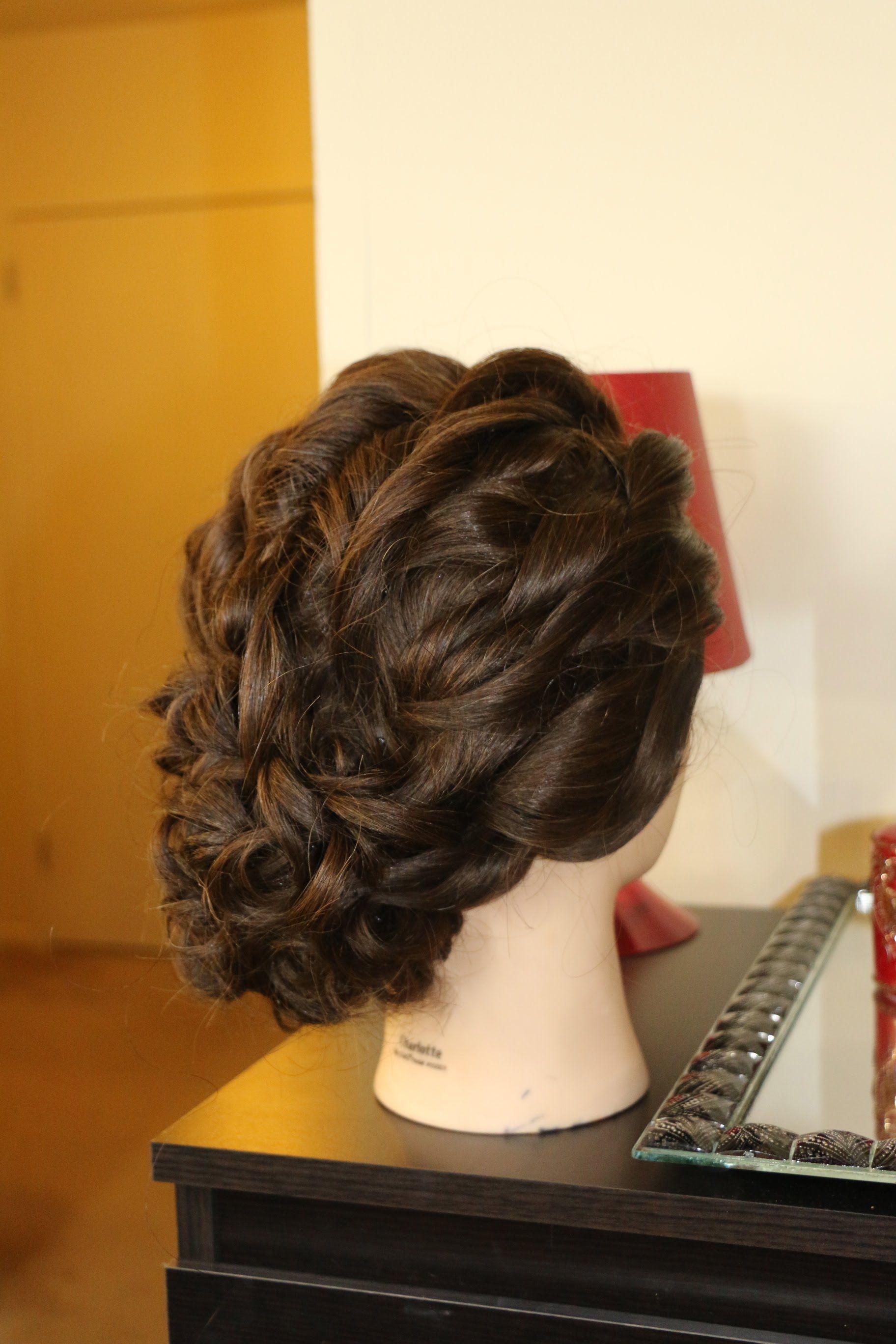 Hair Tutorial Bridal Curly Updo Hairstyles Pinte
