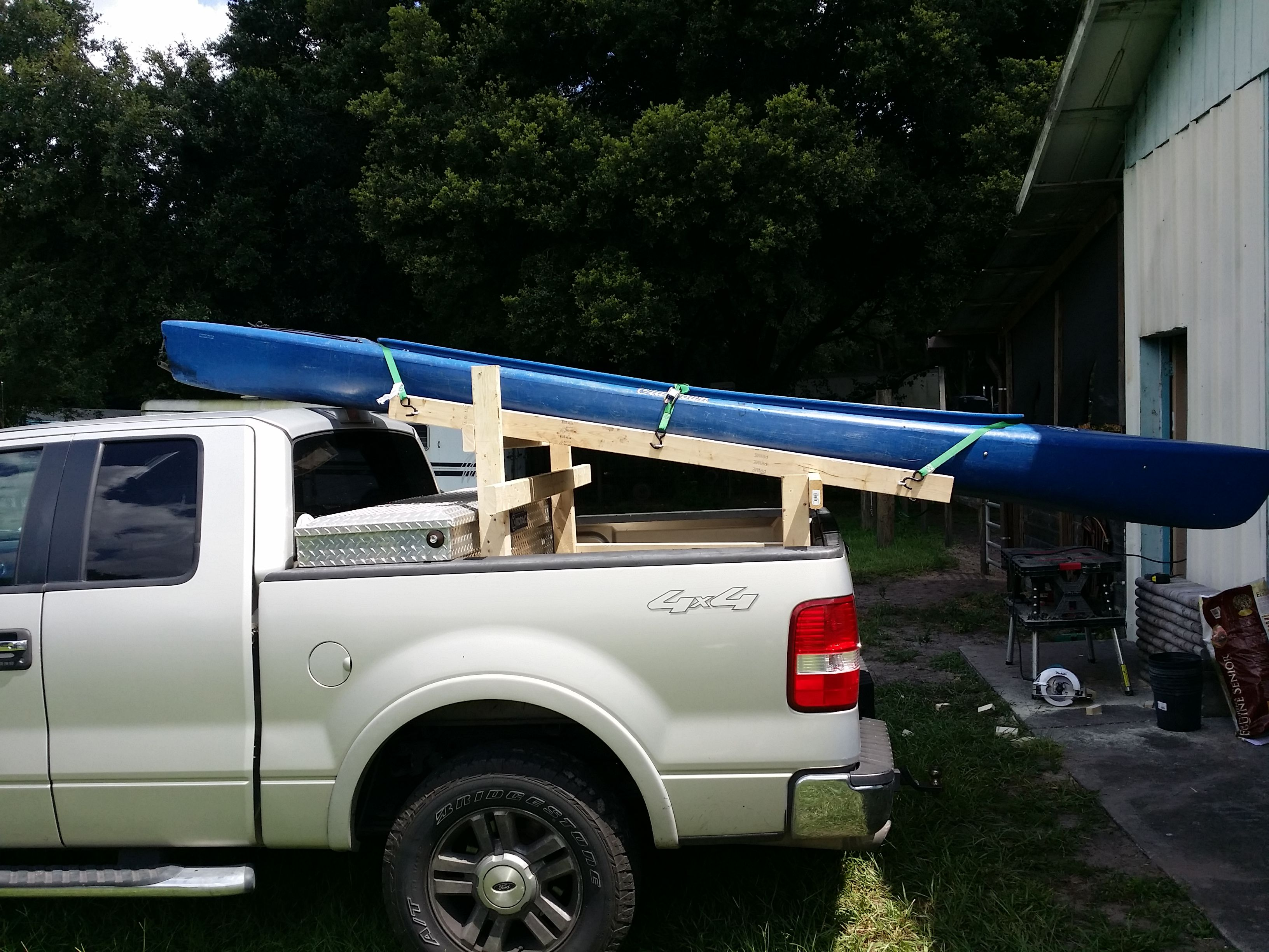 Diy Kayak Truck Rack Stuff To Make Kayak Rack Kayak