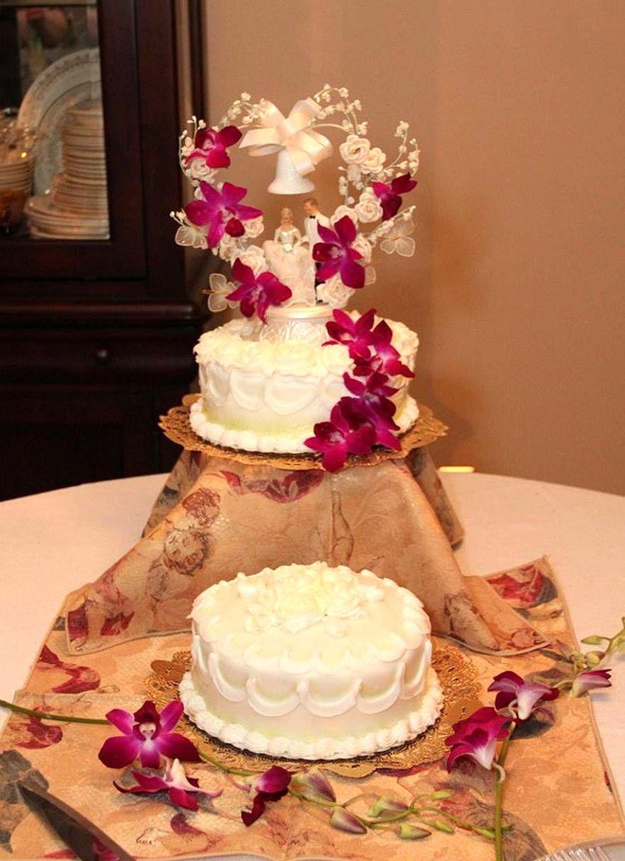 50th anniversary cake original cake topper added flowers