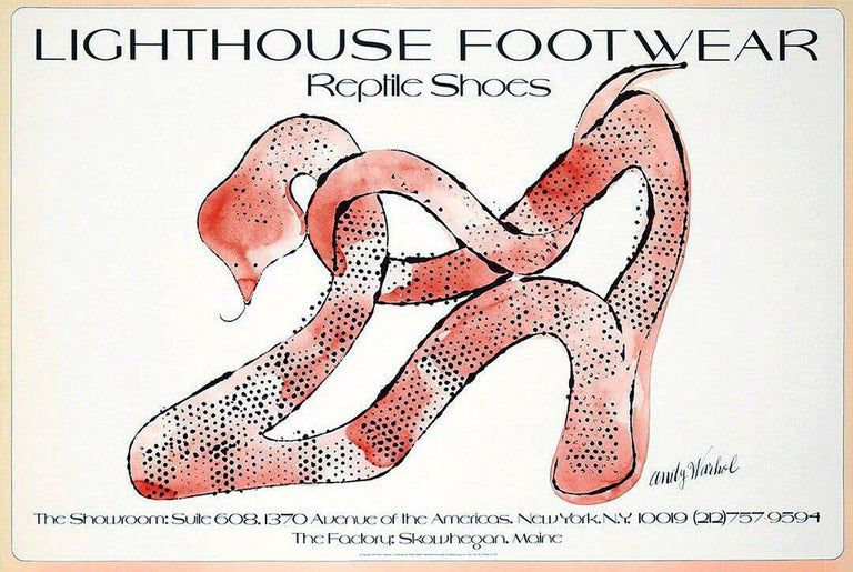 Andy Warhol - Andy Warhol Reptile Shoes Lithograph (Andy Warhol's shoes) #andywarhol
