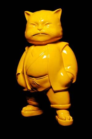 Hiro ANDO, Urbancat Yellow, 55 x 100 x 150 cm, résine