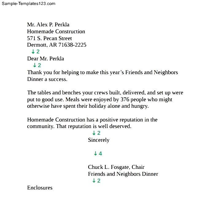 Personal Business Letter Format Block Style Sample Templates