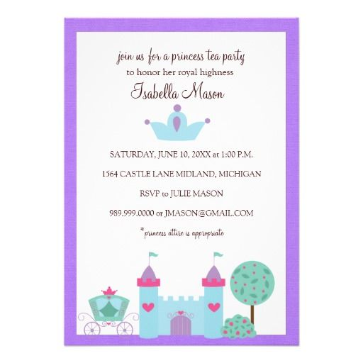 Princess Tea Party Invitations We Provide You All Shopping Site
