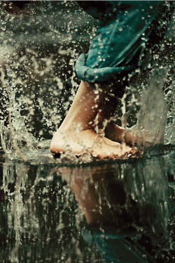 never too old to jump in puddles.