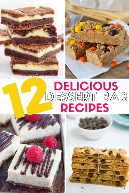 12 Delicious Dessert Bar Recipes 11 of the best Delicious Dessert Bar Recipes. Easy DIY recipe tutorials that are perfect for a crowd. Make them for your next party or just because.