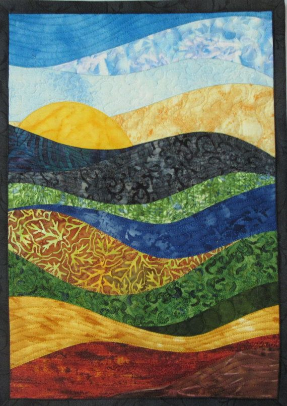 Abstract Landscape Art Quilts