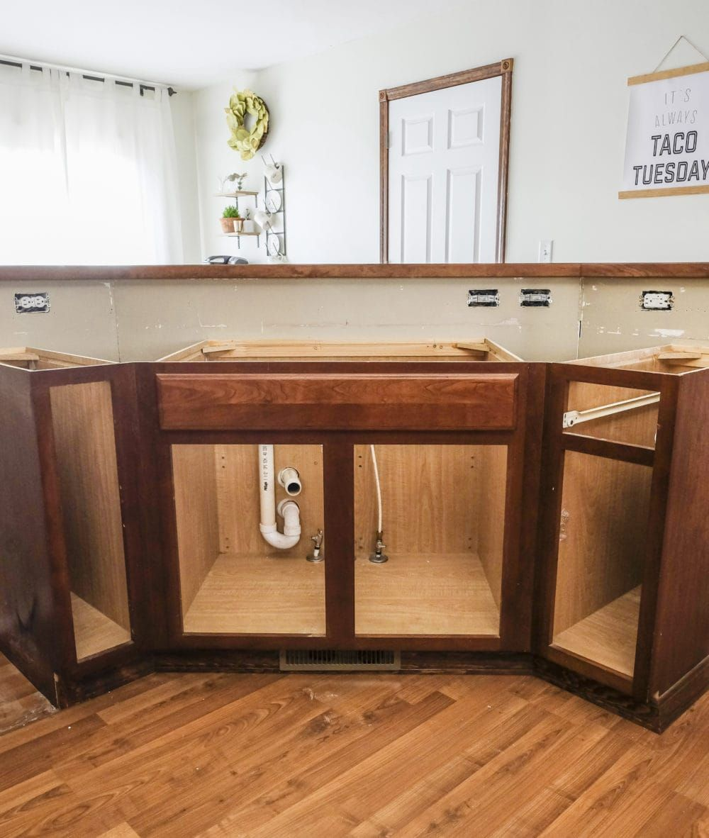 DIY Farmhouse Sink Installation Diy kitchen