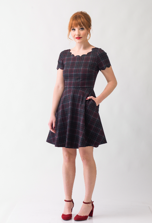 9e49958e6d Broadway Pinups — Scalloped Plaid Dress w/ Pockets | Cute dresses ...